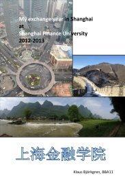 My exchange year in Shanghai at Shanghai Finance Uni ... - Arcada