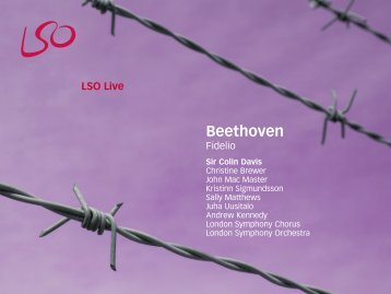 Beethoven: Fidelio - Sir Colin Davis - London Symphony Orchestra