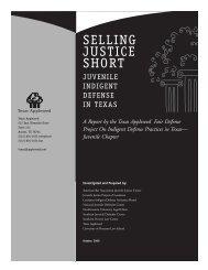 Selling Justice Short: Juvenile Indigent Defense in Texas - National ...