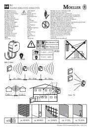 Xcomfort CDAU-01/02, CDAU-01/03 ca. 60-90% ca. 80-95 ... - Moeller