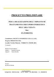 Progetto preliminare per la realizzazione dell - Centro CISA