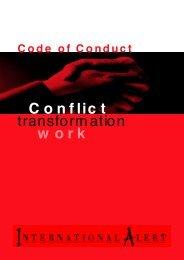 Code of Conduct - International Alert