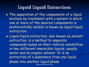 Extraction - the engineering resource