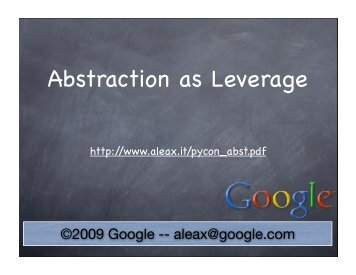 Abstraction as Leverage