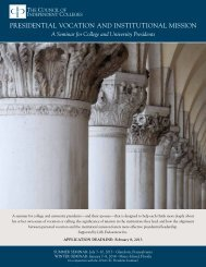 brochure - The Council of Independent Colleges