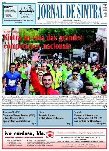 Sintra na rota das grandes competições nacionais ... - Jornal de Sintra