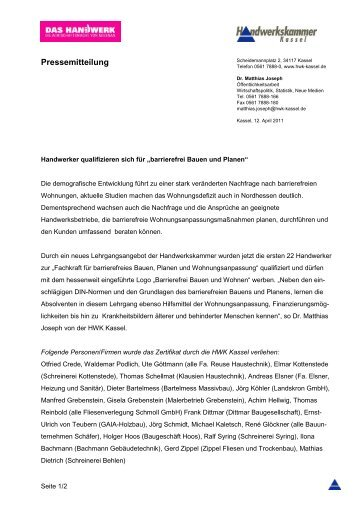 Muster Gmbh Handwerkskammer Kassel