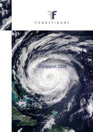 Årsrapport 2008 - Fondsfinans