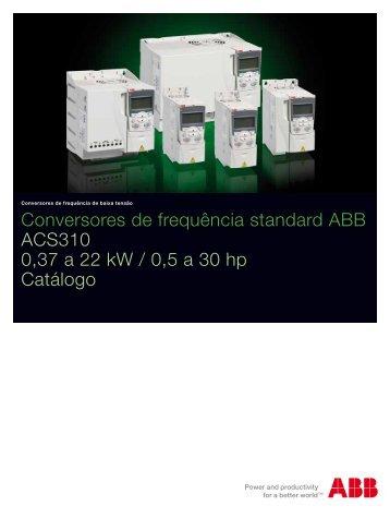 Conversores de frequência standard ABB ACS310 0,37 a 22 kW / 0 ...