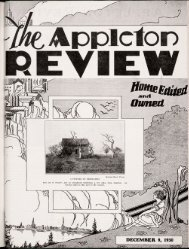 Page 1 Page 2 APPLETON REVIEW A news-magazine for the ...