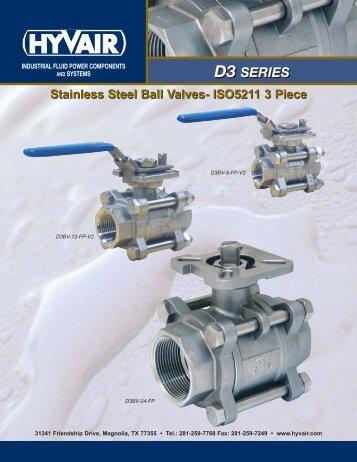 Stainless Steel Ball Valves-5211 3 Piece - Hyvair
