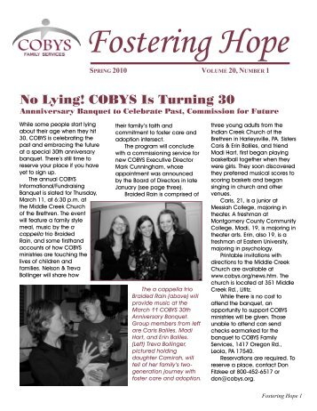 No Lying! COBYS Is Turning 30 - COBYS Family Services