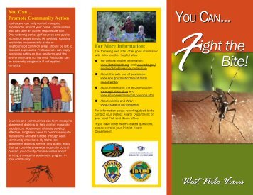 West Nile Virus Brochure - South Central Public Health District