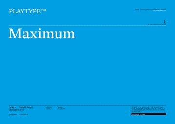 Maximum - Playtype