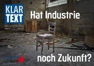 Hat Industrie noch Zukunft? - ig bce | klartext