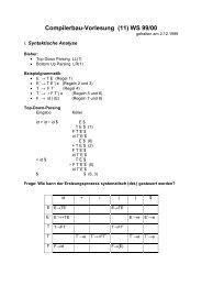 Compilerbau-Vorlesung (11) WS 99/00 - dbis