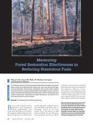 Measuring forest restoration effectiveness in reducing hazardous fuels.