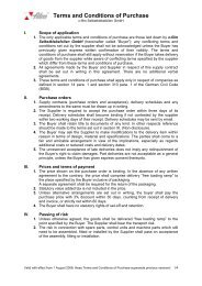 Terms and Conditions of Purchase -