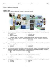 ExamView - Chap12-Hwk-and-Solutions.tst