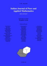 Italian Journal of Pure and Applied Mathematics ISSN