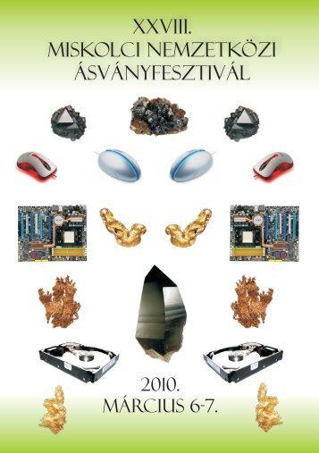mf2010.pdf (3,4 MB) - Herman Ottó Múzeum Ásványtára