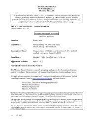 Summer Student Custodians - Mosinee School District