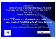 Il test HPV come test di screening cervicale - Centro per lo Studio e ...