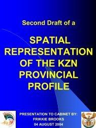 THE ISRDS IN KWAZULU/NATAL - KZN Development Planning