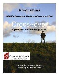 Programma - Oracle Gebruikersclub Holland