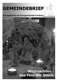 Gemeindebrief Nr. 81 - Evangelische Kirchengemeinde Enzberg