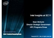 Intel Insights at SC11 - STFC's Computational Science and ...