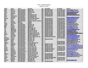 2011-12 directory - The National High School Baseball Coaches ...