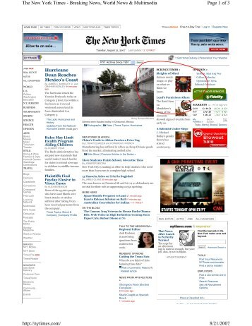 Page 1 of 3 The New York Times - Breaking News, World News ...