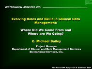 Evolving Roles and Skills in Clinical Data Management: Where Did ...