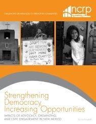 Strengthening Democracy, Increasing Opportunities - National ...