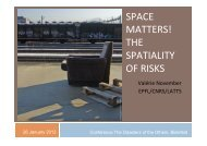 SPACE MATTERS! THE SPATIALITY OF RISKS