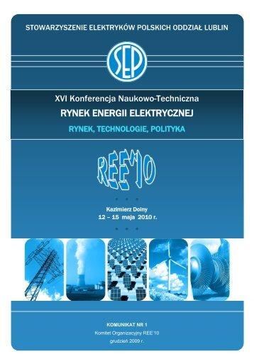 Komunikat I REE10 - SEP
