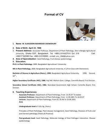 Pathologist Cv Speech And Language Pathologist Resume Sales Pathologist  Lewesmr Resume Of Md Belal Hossain Plant