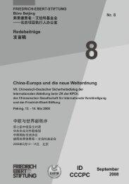 China - Europa und die neue Weltordnung - Bibliothek der Friedrich ...