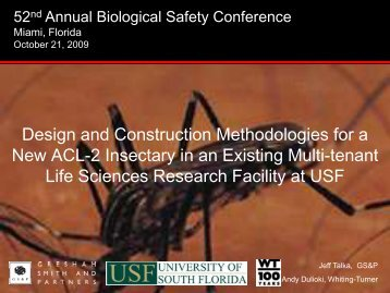 design and construction methodologies for a new acl-2 insectary in ...