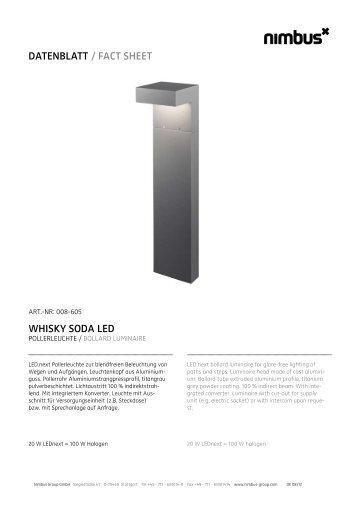 datenblatt / fact sheet whisky soda led - Hoogspoor design light