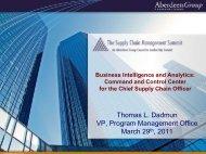 Presentation Title - Summit - Aberdeen Group