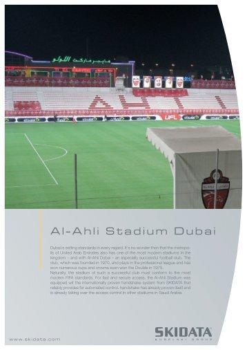Al-Ahli Stadium Dubai - Skidata