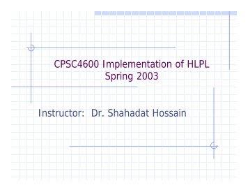 Dr. Shahadat Hossain