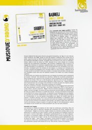 Voir la présentation complète - Harmonia Mundi