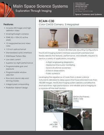 ECAM-C30 (PDF) - Malin Space Science Systems