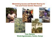 Maximising Access and Benefit Sharing for Tree and Forest Genetic ...