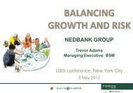 UBS Conference Balancing Growth and Risk - Nedbank Group Limited