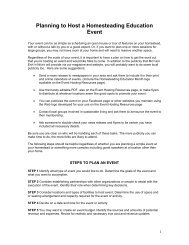 Planning to Host an Event - Mother Earth News