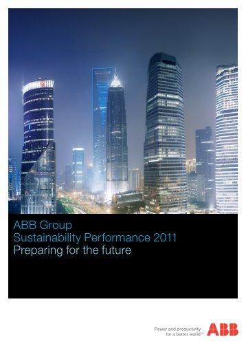 (PDF:) ABB Group Sustainability Performance 2011